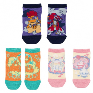Pokemon - Short socks Band festival 3 pairs set (V2) [CLOTHES - POKEMON CENTER]