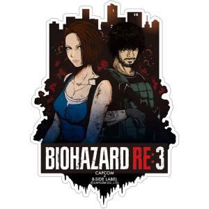 Capcom x B-SIDE LABEL Sticker - Resident Evil RE:3 / Biohazard RE:3 Jill & Carlos [Goods]