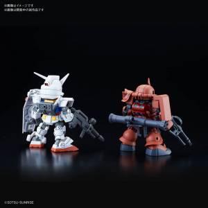 SD Gundam Cross Silhouette RX-78-2 Gundam & Char's Zaku II Plastic Model [Bandai]