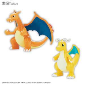 Pokemon Plamo Collection 43 Select Series Charizard (Battle Ver.) & Dragonite VS Set Plastic Model [Bandai]