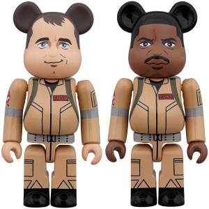 BE@RBRICK / Bearbrick GHOSTBUSTERS 100% 2PC SET Peter Venkman / Winston Zeddemore [Medicom Toy]
