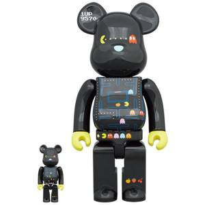 BE@RBRICK / Bearbrick PAC-MAN 100% & 400% 2PC Limited Set [Medicom Toy]