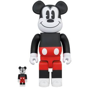 BE@RBRICK / Bearbrick MICKEY MOUSE (R&W 2020 Ver.) 100% & 400% 2PC Limited Set [Medicom Toy]