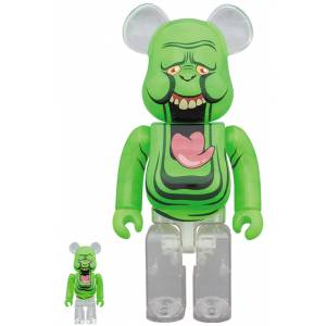 BE@RBRICK / Bearbrick  SLIMER (GREEN GHOST) 100% & 400% 2PC Limited Set [Medicom Toy]