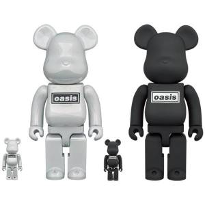 BE@RBRICK / Bearbrick OASIS (BLACK RUBBER COATING) 100% & 400% 2PC Limited Set [Medicom Toy]