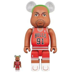 BE@RBRICK / Bearbrick Dennis Rodman (Chicago Bulls) 100% & 400% 2PC Limited Set [Medicom Toy]
