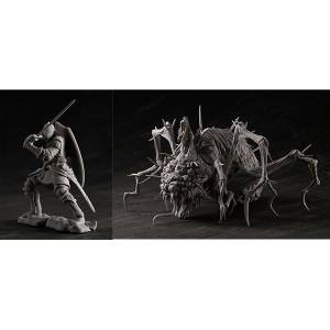 Game Piece Collection DARK SOULS Elite Knight & Chaos Witch Quelaag Unpainted Assembly Kit [Megahouse]