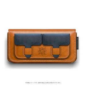 Monster Hunter Rise Genuine Leather Multi Pouch Blue [Goods]