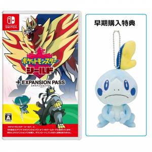 Pokemon Shield + Expansion pass + Plush Sobble POKEMON CENTER LIMITED EDITION [Switch]