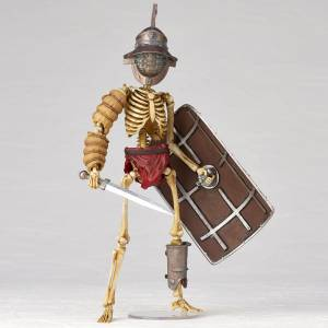 KT Project KT-030 Takeya Style Jizai Okimono Fish Helmet Gladiator Mirmillone Full Color Edition [Kaiyodo]