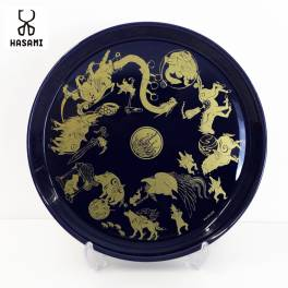 Okami 14th Anniversary Collection Okami x HASAMI collaboration Hasami ware plate + plate stand [Goods]