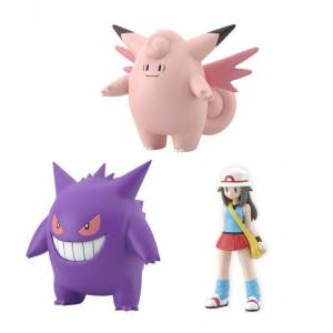 Pokemon Scale World - Leaf & Clefable & Gengar Limited set Reissue [Bandai]