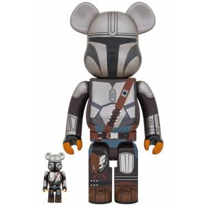 BE@RBRICK / BEARBRICK MANDALORIAN 100% & 400% LIMITED SET [Medicom Toy]