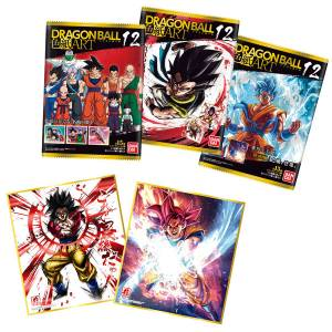 Dragon Ball Shikishi ART 12 - 10Pack BOX (CANDY TOY) [Bandai]