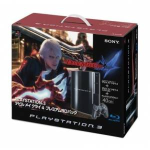 PlayStation 3 40GB Clear Black - Devil May Cry 4 [occasion]