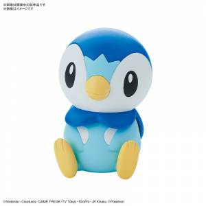 Pokemon Plamo Collection Quick!! 06 Piplup Plastic Model [Bandai]