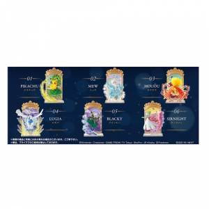 Pokemon - Pokémon STAINED GLASS Collection 6Pack BOX CANDY TOY [Rement]
