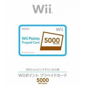 Carte pré-payée Virtual Console - 5 000 Wii Points