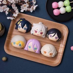 FukaFuka Squeeze Bread Touken Ranbu ONLINE Set 1 6 Pack BOX [Megahouse]