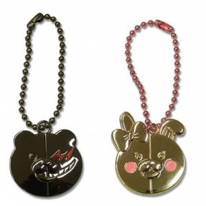 Dangan Ronpa - Monokuma & Monomi Metal Key Chain [Sega Store Limited]