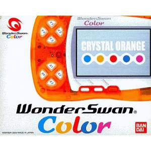 WonderSwan Color Crystal Orange Complete in box [Used Good Condition]