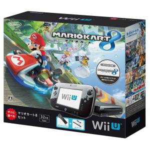 Wii U Black Premium + Mario Kart 8 Bundle Set [Brand New]