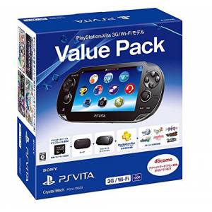 PSVita Slim Value Pack - Crystal Black 3G Wifi [new]