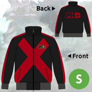 "Monster Hunter X / Cross - ""Dinobaruto"" Red Sweat Zip  - Limited Edition e-Capcom [Goods]"