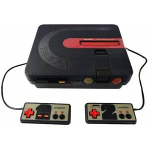 Twin Famicom Black AN-500B [Used - no box]