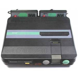 Twin Famicom Black AN-505-BK [Used - no box]