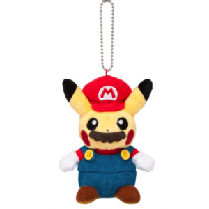 Pikachu Mario ver. Mascot Keychain - Pokemon Center Limited Edition [Plush Toys]