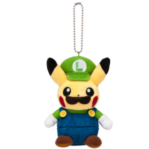 Pikachu Luigi ver. Mascot Keychain - Pokemon Center Limited Edition [Plush Toys]