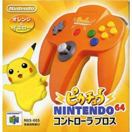Controller N64 Pikachu - Orange [used good condition]