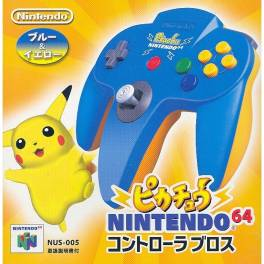 Controller N64 Pikachu - Blue [used good condition]