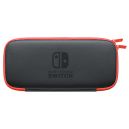Nintendo Switch carrying case (with Screen Protector) Neon Red Nintendo Store Limited Edition [Switch]