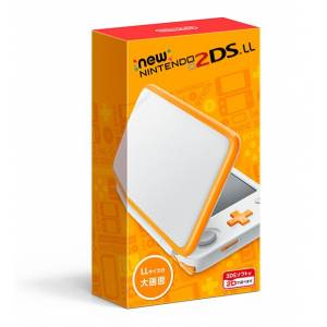 New Nintendo 2DS XL White × Orange Edition [Brand New]