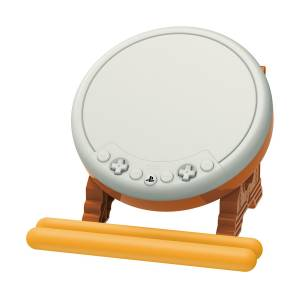 Hori TAIKO NO TATSUJIN SESSION DE DODON GA DON! DRUM & DRUM STICK Controller for Playstation 4 [PS4]