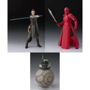 Star Wars: The Last Jedi - Rey /  Elite Praetorian Guard (Whip Staff) / BB-4 Set [SH Figuarts]