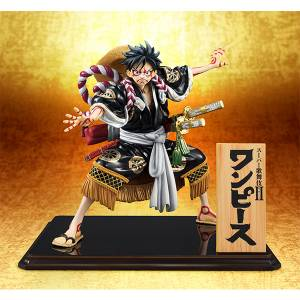 One Piece Portrait Of Pirates - Monkey D. Luffy KABUKI Replay / Black Ver. Limited Edition [Megahouse]