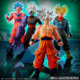 Dragon Ball Super - Son Goku Migatte no Goku'i  / SSJ God SS / Zamasu / Trunks Set Limited Edition [HG - Silver Edition]