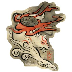 CAPCOM x B-SIDE LABEL Sticker - Okami: Brush [Goods]