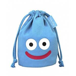 Dragon Quest - Smile Slime Mini Drawstring Bag: Blue [GOODS]