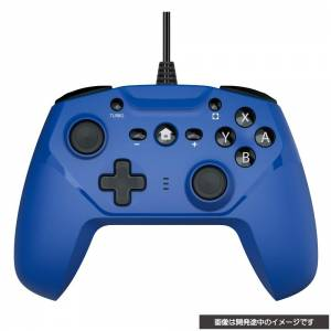 CYBER Gyro controller Wired type (Blue) [Switch]