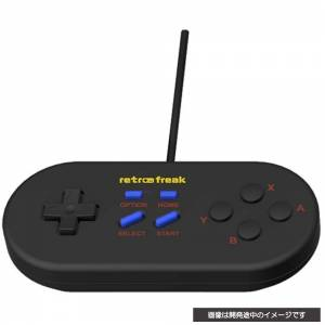 Retro freak Standard controller mega black (MD color) [Cyber Gadget - Brand new]