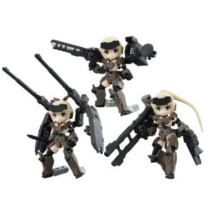 FREE SHIPPING - Desktop Army Frame Arms Girl KT-321f Gourai Series Ver1.2 3 Pack BOX [Megahouse]
