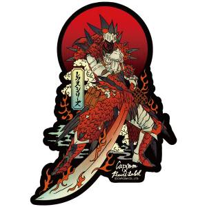 CAPCOM x B-SIDE LABEL Sticker - Monster Hunter: World - Rathalos Armor (Male) [Goods]
