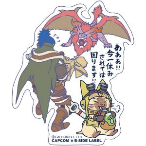 CAPCOM x B-SIDE LABEL Sticker - Monster Hunter: World - Ima Hitoyasumisarete wa Komarimasu! [Goods]