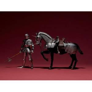 KT Project KT-027 Takeya Style Jizai Okimono 15th Century Gothic Equestrian Armor Silver [Kaiyodo]