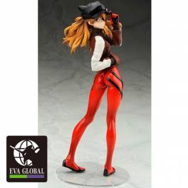 Anime Shikinami Asuka Langley Jersey Ver PVC Scale Figure Loose 23cm Evangelion
