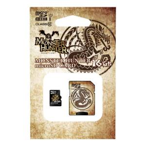 Monster Hunter - Crest Micro SDHC card (16GB) + SD adapter set [Goods / Electronics]